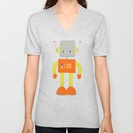 Cute Robot, Little Robot, Smiling Robot Unisex V-Neck
