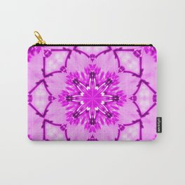 Eastern Redbud And The Bee Kaleidoscope Infrared Neon Pink Carry-All Pouch