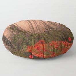 The Memories of poppies Floor Pillow
