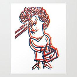 Lazer Granny Art Print