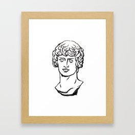 Dionysos,marble, Greek and Roman sculpture painting, watercolor painting Framed Art Print