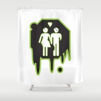 zombies Shower Curtains featuring Zombies by JJ Fry