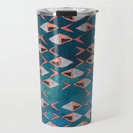 School of Fish Pattern Travel Mug