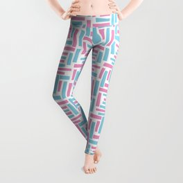 Pink and blue geometric pattern. Leggings