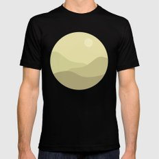 Minimal Meadow Day Mens Fitted Tee MEDIUM Black