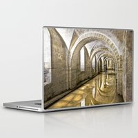 mandie manzano Laptop & iPad Skins featuring Winchester Cathedral Crypt by Alice Gosling