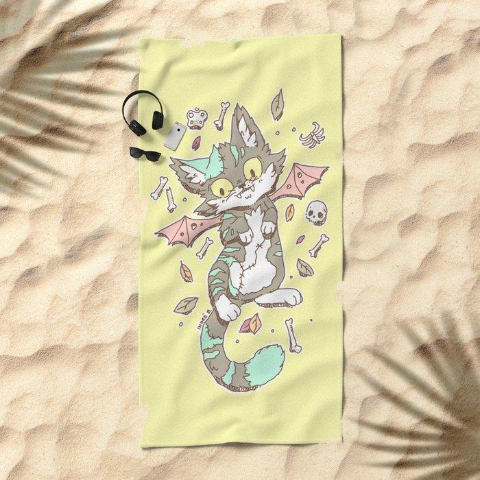 Monster Cat Beach Towel