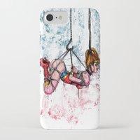 bondage iPhone & iPod Cases featuring Bondage Wonderowman by lucille umali