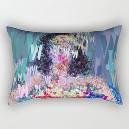 Superhero Type Art Comics Woman Rectangular Pillow