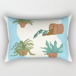 Potted Plants and Garden Care Rectangular Pillow