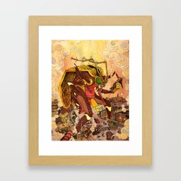 Attack of the 50 Foot Mosquito Framed Art Print