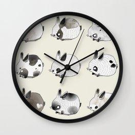 Little Bunnies Wall Clock