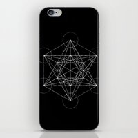 sacred geometry iPhone & iPod Skins featuring Sacred Geometry Print 4 by poindexterity