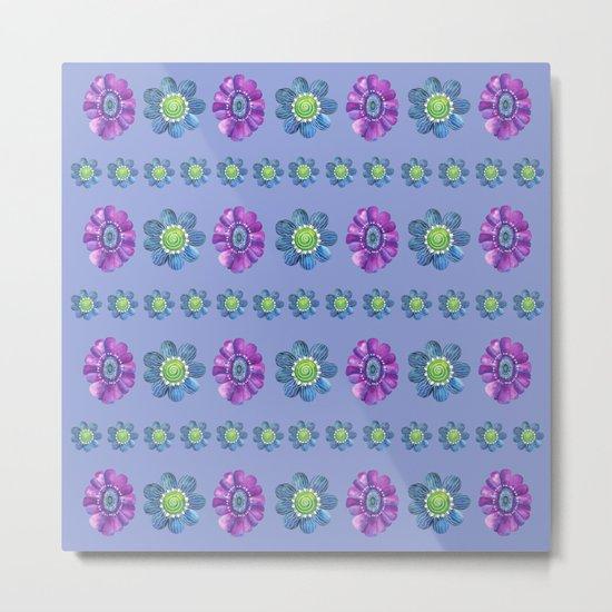 Blue and Purple Pattern II Metal Print
