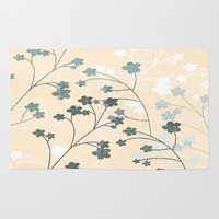 cherry blossom Area & Throw Rugs featuring Cherry Blossom by BriS
