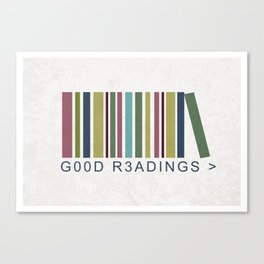 Good Readings are priceless Canvas Print