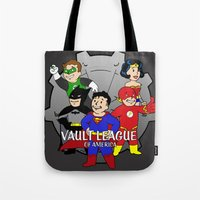 league Tote Bags featuring Vault League by jcdope