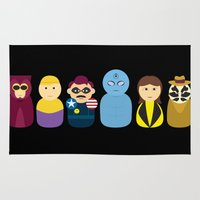 watchmen Area & Throw Rugs featuring Watchmen by PinkRadish