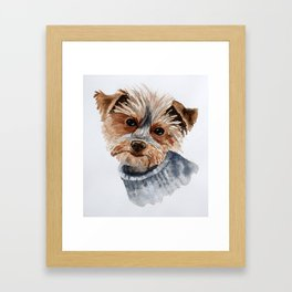 Snuggle up warm. Framed Art Print
