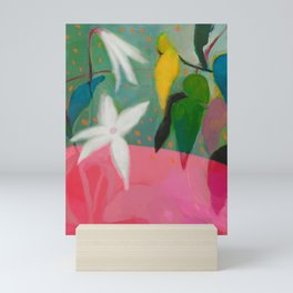 floral pink summer Mini Art Print
