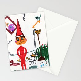 Naughty Elf Stationery Cards