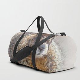 Watercolor Marmot 15, Rocky Mountain National Park, Tundra Warrior Duffle Bag