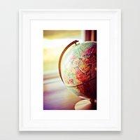 globe Framed Art Prints featuring Globe  by Jo Bekah Photography