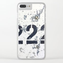 222 Angel Number Clear iPhone Case