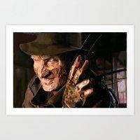 freddy krueger Art Prints featuring Freddy Krueger by Moody Voodies