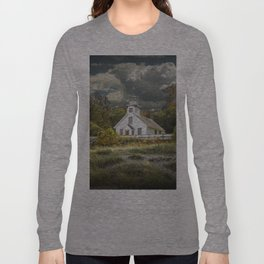 Old Mission Point Lighthouse in Early Autumn Long Sleeve T-shirt