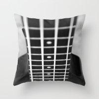 bass Throw Pillows featuring bass guitar by Falko Follert Art-FF77