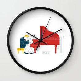 Pianist Wall Clock