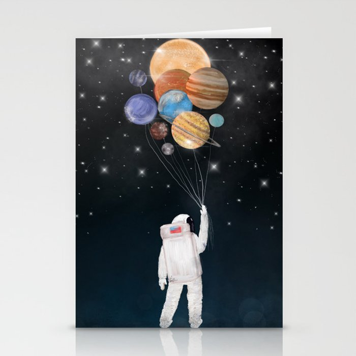 balloon universe Stationery Cards