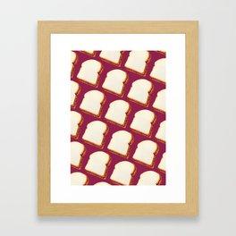 Peanut Butter & Jelly Sandwich Pattern Framed Art Print