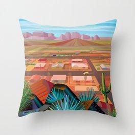 Desert Town Throw Pillow