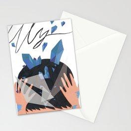 iolite blue Stationery Cards