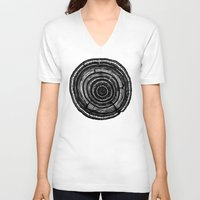 tree rings V-neck T-shirts featuring Tree Rings by Irene Leon