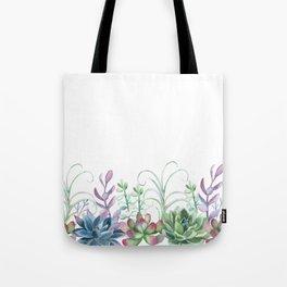 Succulents in The Garden Tote Bag