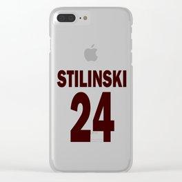 Stilinski 24 Clear iPhone Case