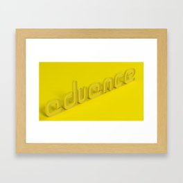 Advance Framed Art Print