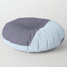 Purple Blue & Light Blue - oblique Floor Pillow