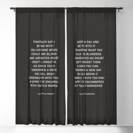 FINISH EACH DAY  Blackout Curtain