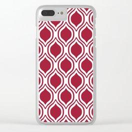 Crimson and white Alabama pattern university of alabama crimson tide college Clear iPhone Case