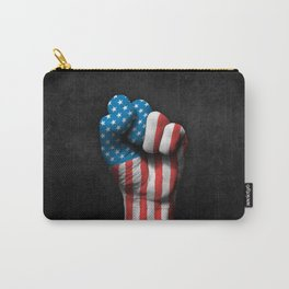 Flag of The United States on a Raised Clenched Fist Carry-All Pouch