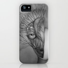 Inner world black & white iPhone Case