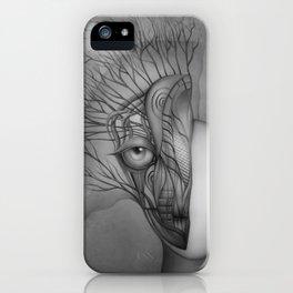 Inner world black & white iPhone Case
