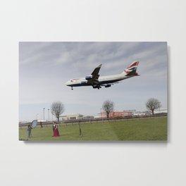 Jumbo Jet Photo Shoot Metal Print