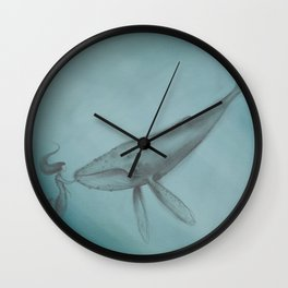 Whale and Mermaid Wall Clock