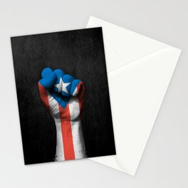 Puerto Rican Flag on a Raised Clenched Fist Stationery Cards
