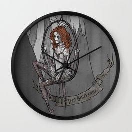 The Bird Girl  Wall Clock